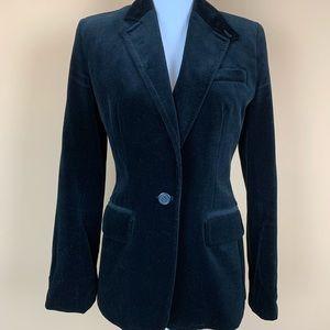 J. Crew velvet blazer black tailored